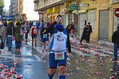 Runner Drinking stock image