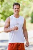 Runner Drinking Water Stock Photos