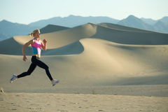 Runner on Dunes Stock Photo