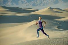 Runner on Dunes Stock Images