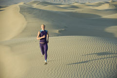 Runner On Dunes Stock Photos