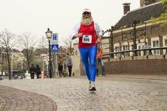 Runner in 'Dwars door Dort' Royalty Free Stock Photo