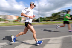 Runner - emotional blurred image Royalty Free Stock Photography