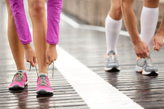 Runner feet Stock Images