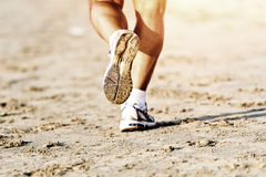 Runner feet running Stock Photo