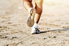 Runner feet running Stock Photo