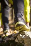 Runner feet running at park Royalty Free Stock Image