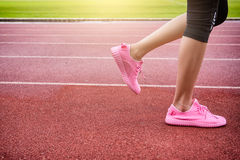 Runner feet running Royalty Free Stock Photography