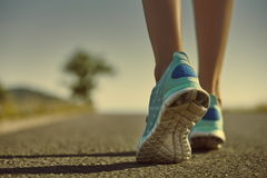 Runner feet and shoes Royalty Free Stock Images