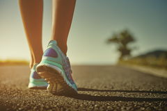 Runner feet and shoes Royalty Free Stock Photos