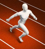 Runner figure on a track Stock Images