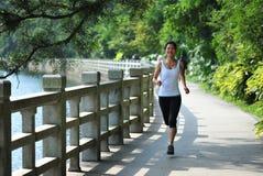 Runner at garden Royalty Free Stock Image