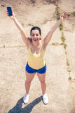 Runner Girl Royalty Free Stock Photo
