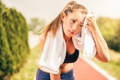 Runner Girl Stock Image