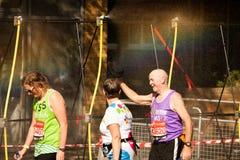 Runner Hat Off. Marathon Runner Spray Runner Hat Off Stock Images
