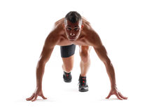 The runner. Stock Photo