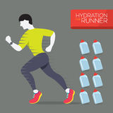 Runner With Hydration Bottles. Royalty Free Stock Photo