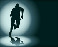 Runner. Illustration of abstract silhouette of runner Royalty Free Stock Images