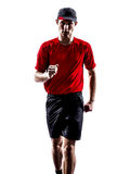Runner jogger silhouette Royalty Free Stock Photos