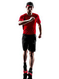 Runner jogger silhouette Stock Photography