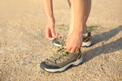 Runner lace up shoes Royalty Free Stock Photography