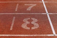 Runner lane Royalty Free Stock Image