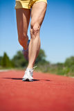 Runner legs Stock Image