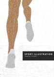 Runner legs illustration Royalty Free Stock Image