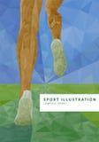 Runner legs illustration Stock Photo