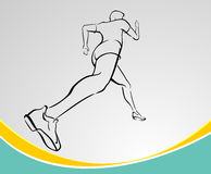 Runner Line Art Stock Image