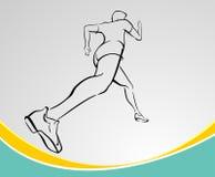 Runner Line Art Stock Image