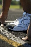 Runner lining up for race Royalty Free Stock Images