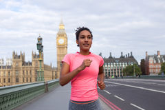 Runner in london Royalty Free Stock Photography