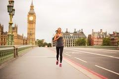 Runner in London Stock Photo