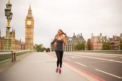 Runner in London Royalty Free Stock Photo
