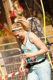 Runner Looking Down. London Marathon Runner Looking Down Royalty Free Stock Image