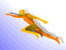 Runner man. Vector figure of the running athlete on a color background vector illustration