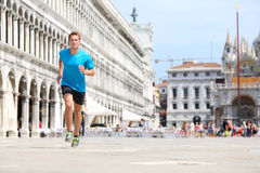 Runner man jogging and running in Venice Royalty Free Stock Photo