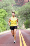 Runner man running Stock Image