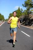 Runner man running sprinting for success on run Royalty Free Stock Image
