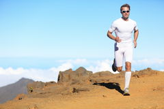 Runner man trail running Stock Images
