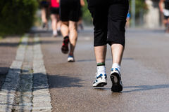 Runner in a marathon competition Stock Image