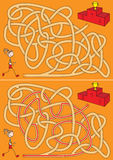 Runner maze. For kids with a solution royalty free illustration