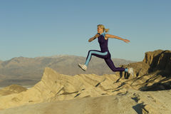 Runner on mountains Stock Photography