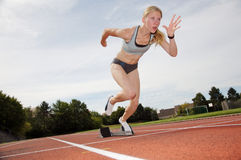 Runner Off the Starting Block Royalty Free Stock Image