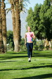 Runner in Park Stock Photography