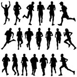 Runner peoples vector royalty free illustration