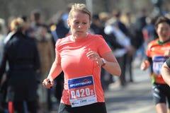 Runner in Prague Marathon 2015 Stock Images