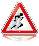 Runner pulled away Royalty Free Stock Photo