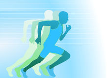 The runner pulled away from the others Stock Photography